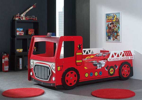Fire truck bed expressbedz for Fire truck bedroom ideas
